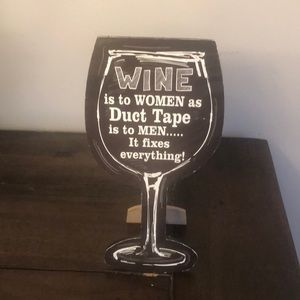 Wine home decor sign